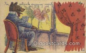 ber001883 - Im Certainly Enjoying Myself Wells Bears, Bear Postcard Bears, tragen postkarten, sopportare cartoline, soportar tarjetas postales, suportar cartões postais