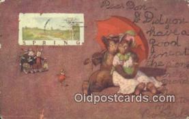 ber001899 - Spring S.S. Porter, Bear Postcard Bears, tragen postkarten, sopportare cartoline, soportar tarjetas postales, suportar cartões postais