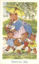 ber001906 - Shopping Day J. Salmon LTD, Bear Postcard Bears, tragen postkarten, sopportare cartoline, soportar tarjetas postales, suportar cartões postais