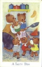 ber001907 - A Taste Dish J. Salmon LTD, Bear Postcard Bears, tragen postkarten, sopportare cartoline, soportar tarjetas postales, suportar cartões postais