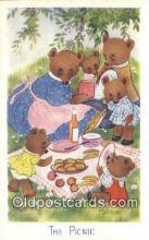 ber001908 - The Picnic J. Salmon LTD, Bear Postcard Bears, tragen postkarten, sopportare cartoline, soportar tarjetas postales, suportar cartões postais