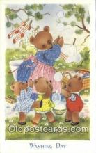 ber001911 - Washing Day J. Salmon LTD, Bear Postcard Bears, tragen postkarten, sopportare cartoline, soportar tarjetas postales, suportar cartões postais