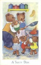 ber001912 - A Taste Dish J. Salmon LTD, Bear Postcard Bears, tragen postkarten, sopportare cartoline, soportar tarjetas postales, suportar cartões postais