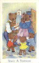 ber001914 - What A Surprise J. Salmon LTD, Bear Postcard Bears, tragen postkarten, sopportare cartoline, soportar tarjetas postales, suportar cartões postais