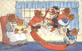 ber001921 - The Rocking Horse Artist Margaret Tempest, Bear Postcard Bears, tragen postkarten, sopportare cartoline, soportar tarjetas postales, suportar cartões postais