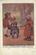 ber001935 - Busy Bear off to school J.I. Austen Co. Chicago , Bear Postcard Bears, tragen postkarten, sopportare cartoline, soportar tarjetas postales, suportar cartões postais