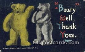 ber001977 - 97-2 Tower M & N Co. NY, Bear Postcard Bears, tragen postkarten, sopportare cartoline, soportar tarjetas postales, suportar cartões postais