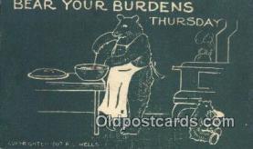 ber001983 - RL Wells, Bear Postcard Bears, tragen postkarten, sopportare cartoline, soportar tarjetas postales, suportar cartões postais