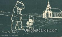 ber001985 - Sunday D Hillson Days of the Week, Bear Postcard Bears, tragen postkarten, sopportare cartoline, soportar tarjetas postales, suportar cartões postais