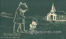 ber001988 - Sunday D Hillson Days of the Week, Bear Postcard Bears, tragen postkarten, sopportare cartoline, soportar tarjetas postales, suportar cartões postais