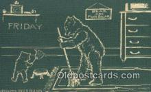ber001989 - Friday D Hillson Days of the Week, Bear Postcard Bears, tragen postkarten, sopportare cartoline, soportar tarjetas postales, suportar cartões postais