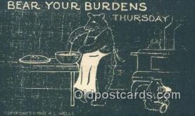 ber001995 - Bear Your Burdens RL Wells, Bear Postcard Bears, tragen postkarten, sopportare cartoline, soportar tarjetas postales, suportar cartões postais