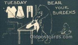 ber002000 - Tuesday RL Wells, Bear Postcard Bears, tragen postkarten, sopportare cartoline, soportar tarjetas postales, suportar cartões postais
