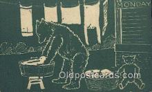 ber002001 - Monday D Hillson Days of the Week, Bear Postcard Bears, tragen postkarten, sopportare cartoline, soportar tarjetas postales, suportar cartões postais