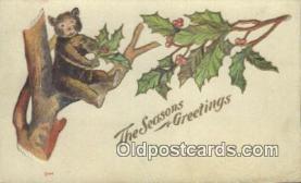 ber002006 - Seasons Greetings, Bear Postcard Bears, tragen postkarten, sopportare cartoline, soportar tarjetas postales, suportar cartões postais