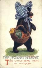ber002022 - This little Bear went to Market Ullman MFG CO, NY, Bear Postcard Bears, tragen postkarten, sopportare cartoline, soportar tarjetas postales, suportar cartões postais