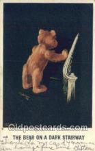 ber002030 - The Bear on a Dark Stairway Artist Twelvetrees, Bear Postcard Bears, tragen postkarten, sopportare cartoline, soportar tarjetas postales, suportar cartões postais