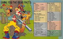 ber002158 - Bear Facts  Postcard Post Card