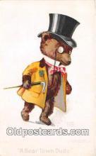 ber002221 - Bear Town Dude Artist Rose Clark Postcard Post Card