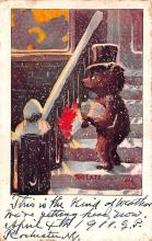 ber007021 - Bear Post Card Old Vintage Antique