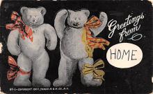 ber007071 - Bear Post Card Old Vintage Antique
