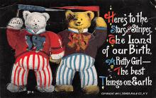 ber007089 - Bear Post Card Old Vintage Antique
