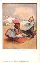 ber007103 - Bear Post Card Old Vintage Antique