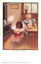 ber007109 - Bear Post Card Old Vintage Antique