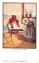 ber007113 - Bear Post Card Old Vintage Antique
