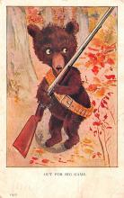 ber007149 - Bear Post Card Old Vintage Antique