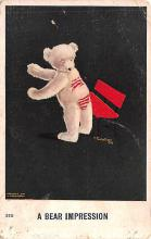 ber007155 - Bear Post Card Old Vintage Antique