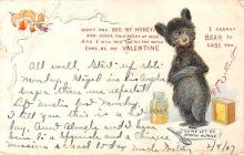 ber007219 - Bear Post Card Old Vintage Antique
