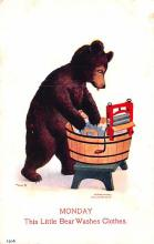 ber007223 - Bear Post Card Old Vintage Antique