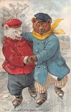 ber007235 - Bear Post Card Old Vintage Antique