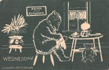 ber007253 - Bear Post Card Old Vintage Antique