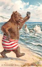 ber007259 - Bear Post Card Old Vintage Antique