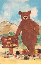 ber007275 - Bear Post Card Old Vintage Antique