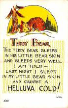 ber007311 - Bear Post Card Old Vintage Antique