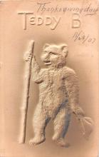 ber007335 - Bear Post Card Old Vintage Antique