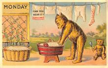 ber007457 - Bear Post Card Old Vintage Antique