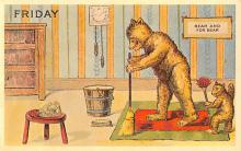 ber007463 - Bear Post Card Old Vintage Antique
