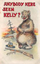bev006090 - Bears Postcard Old Vintage Antique Post Card