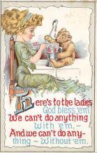 bev006091 - Bears Postcard Old Vintage Antique Post Card