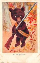 bev006099 - Bears Postcard Old Vintage Antique Post Card