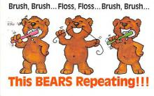 bev006101 - Bears Postcard Old Vintage Antique Post Card
