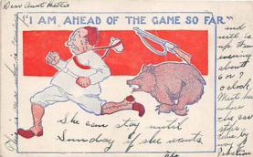 bev006112 - Bears Postcard Old Vintage Antique Post Card