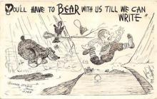 bev006118 - Bears Postcard Old Vintage Antique Post Card