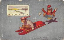 bev006121 - Bears Postcard Old Vintage Antique Post Card