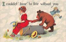 bev006126 - Bears Postcard Old Vintage Antique Post Card