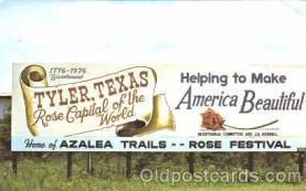 bil001001 - Tyler Texas, Billboard Road Sign, Postcard Post Card